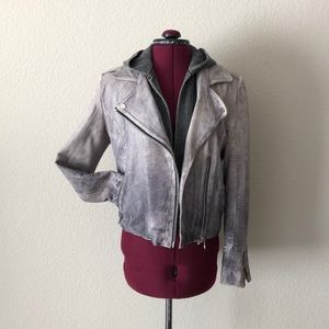 DOMA Leather Convertible Jacket